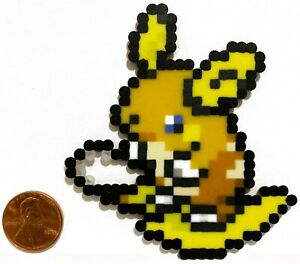 Details About Alolan Raichu Pokemon Mini Bead Sprite Perler Artkal Pixel Art Icon Retro Go