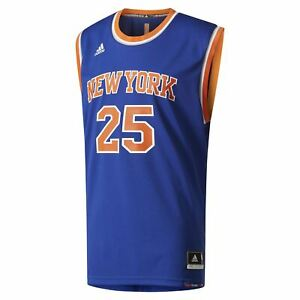 adidas MEN S NEW YORK KNICKS REPLICA JERSEY  25 DERRICK ROSE BLUE ... 25f6c7a4d