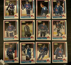 1986-87-O-Pee-Chee-QUEBEC-NORDIQUES-12-card-team-lot