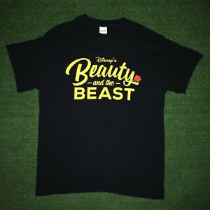 Disney Beauty and the Beast Shadow Juniors Black Graphic T-Shirt New