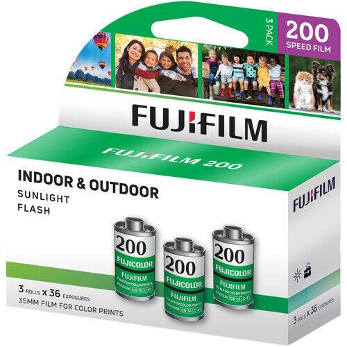 FUJIFILM Fujicolor 200 Color Negative Film (35mm Roll Film,36 Exposures,3 Rolls)