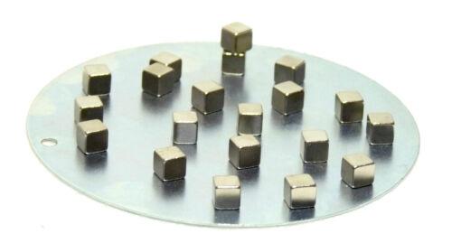 Neodym-Supermagnete Sets mit runder Metallplatte zum Aufbewahren