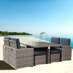 Set di mobili da giardino rattan arredamento set tavolo for Offerte set tavolo da giardino