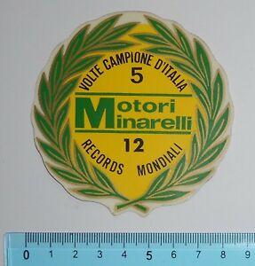 ADESIVO-STICKER-VINTAGE-AUTOCOLLANT-MOTORI-MINARELLI-ANNI-039-80-ORIGINALE-8x8-cm