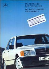 Mercedes-Benz W201 190D, 190D 2.5 + Turbo 1987 German market sales brochure