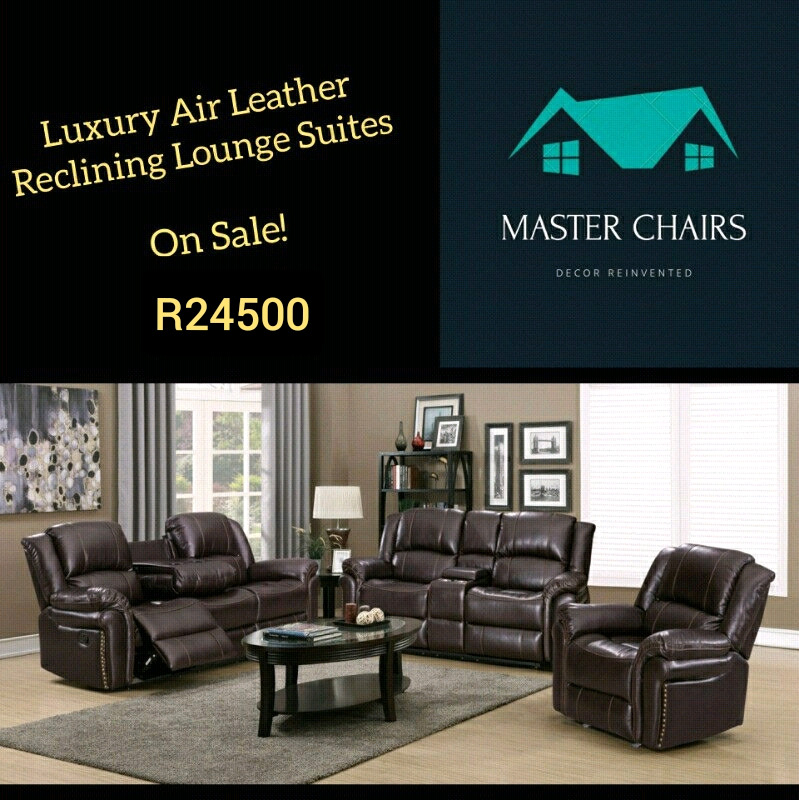 New Lounge Suites for Sale! Reclining and Air Leather. Bargain Deals!