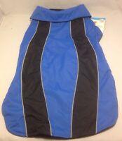 Reflective Dog Coat Sport Jacket Size S M Blue Black Fleece Petco Insulation