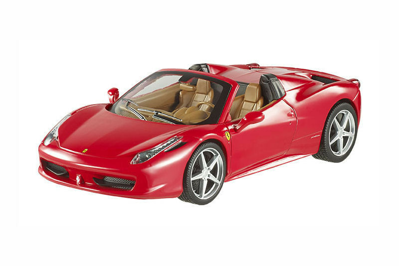 1 24 Hot Wheels - Ferrari 458 Italia Spider Heritage - Red