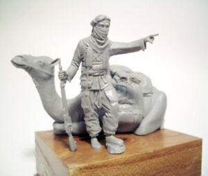1-35-Resin-Desert-Soldier-W-Camel-Unassembled-Unpainted-BL730