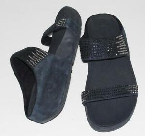 b247a0822be Image is loading FITFLOP-SUEDE-LEATHER-TRAVEL-COMFORT-GLITTER-LULU-SHIMMER-