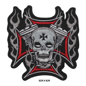 Live-Free-Ride-Free-Bikers-Special-Embroidered-Iron-on-Patch-Sew-On-Badge