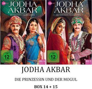 Jodha-Akbar-Die-Prinzessin-und-der-Mogul-Box-14-15-2x3-DVD-NEU-OVP