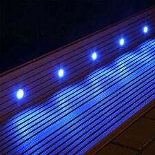 Set 10 LED Bodenlampen Boden Einbaustrahler für innen außen Terrasse Garten blau