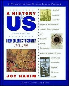 Nouveau-a History Of Us: Book 3: De Colonies De Pays 1735-1791-afficher Le Titre D'origine 100% De MatéRiaux De Haute Qualité