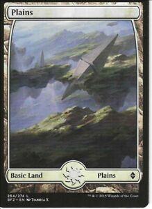 5X PLAINS FULL ART  basic land- Battle for Zendikar - MTG Magic the Gathering