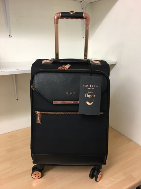 99c6733d52e44a Ted Baker Albany Womens 4 Wheel Trolley Case Black 88001 for sale ...