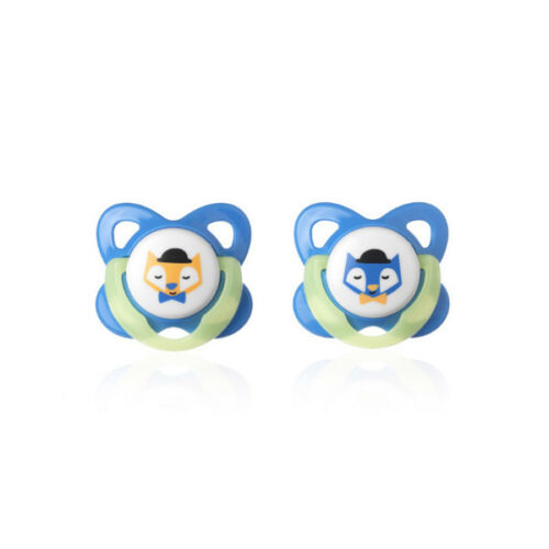 Tommee Tippee Glow in the Dark sucettes 2 x latex naturel bébé Tétine 6-12 mois