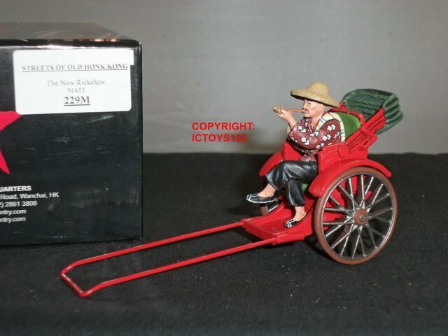KING AND COUNTRY HK229M STREETS OF OLD HONG KONG CHINESE NEW RICKSHAW + FIGURE