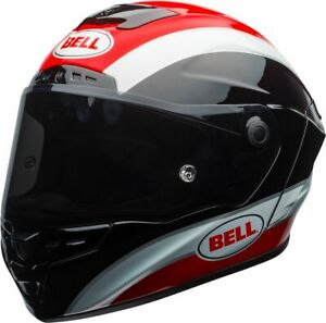 BELL-STAR-MIPS-CLASSIC-BLACK-WHITE-RED-MOTORCYCLE-HELMET-LARGE