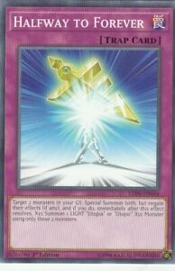 YUGIOH-CARD-1-X-HALFWAY-TO-FOREVER-LED6-EN044-1ST-EDITION