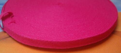 2-6m 10mm Köperband Nahtband Baumwolle Besatzband 40 Farben Köper