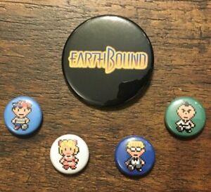 EARTHBOUND-5-Pin-Collector-s-Set-SNES-Nintendo-Ness-Paula-Jeff-Poo-Retro