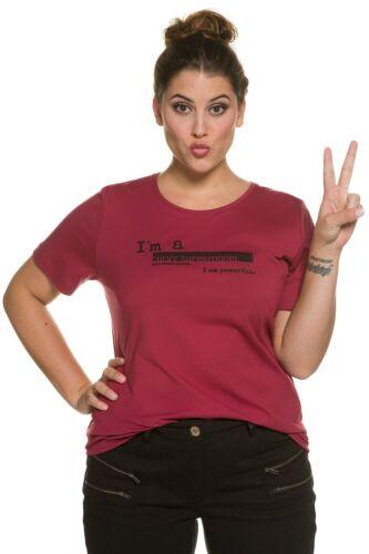 ULLA POPKEN Shirt mit Frontprint dunkelrot NEU