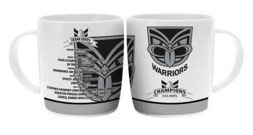 NRL New Zealand Warriors TEAM Premiership History Ceramic Coffee Mug Cup Gift