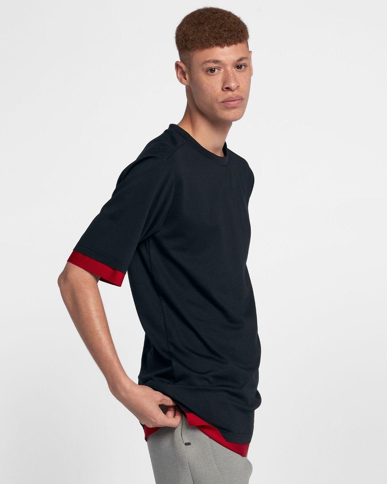 Jordan Lifestyle Tech T-Shirt Herren Schwarz Rotes T-Shirt 899788-010