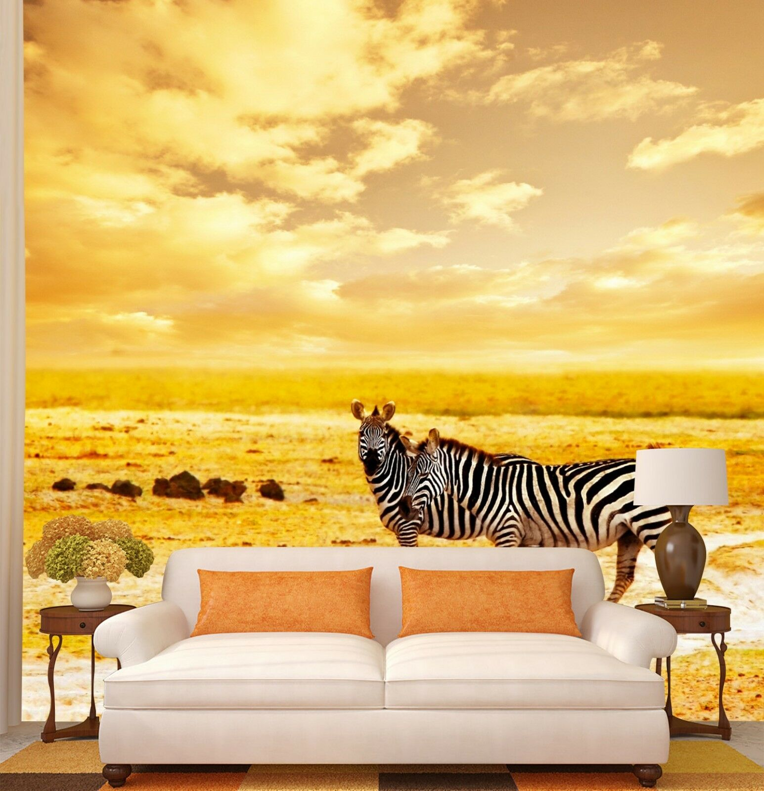 3D Weiß Coulds Zebra 12 Wall Paper wall Print Decal Wall Deco Indoor wall Mural