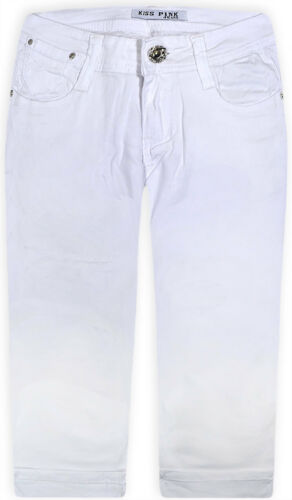 Ladies New Stretch Plus Size Shorts Womens 3//4 Cropped Trousers Plain Pants14-24
