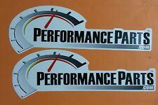 "2 pcs Performance Parts.com Nascar Decals Stickers -approx size 10"" X 3.5"""