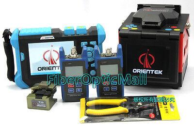 Optical Fiber Fusion Splicer Kit w/ Fiber Cleaver + SM OTDR + OPM + OLS