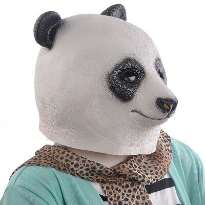 Horse Unicorn Panda Animal Head Mask Creepy Halloween Costume Theater Prop Adult