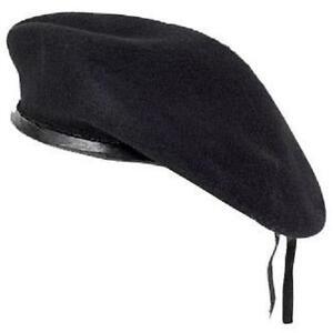 NUOVO NAVY BLU SCURO LANA DONNA UOMO basco cappello militare Costume ... 2ba672dcbbfc