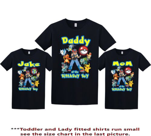 Pokemon Shirt Personalized Name and Age Birthday Shirt