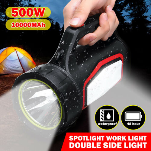 USB Rechargeable LED Work Light Torch 3000m Candle Power Spotlight Hand Lamp *
