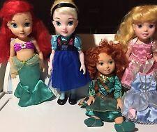 Disney Store My First Merida Brave Elsa Ariel Aurora Princess Toddler Dolls Lot
