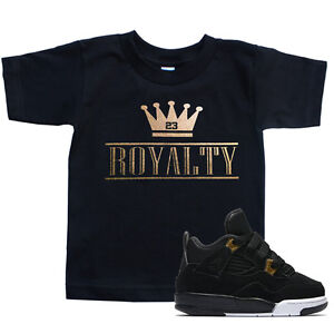 88068d4d3089 Toddler ROYALTY CROWN T Shirt to match with Air Jordan 4 Retro 4 ...