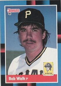FREE-SHIPPING-MINT-1988-Donruss-514-Bob-Walk-Pittsburgh-Pirates-Baseball-Card