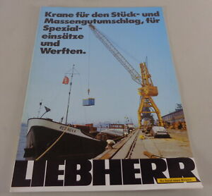 Brochure Liebherr Cranes For Pieces And Massengutumschlag From 11/1984