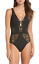 Becca-By-Rebecca-Virtue-Womens-Black-Show-amp-Tell-One-Piece-Swimsuit-Sz-S-6908 thumbnail 1