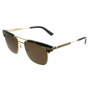 824d8dcf0f675 Image is loading Gucci-GG0287S-003-Havana-Gold-Plastic-Square-Sunglasses-