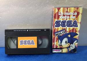 PELICULA VHS CINTA VINTAGE ESPAÑOL - LO NUNCA VISTO DE SEGA PRESENTANDO MEGA-CD