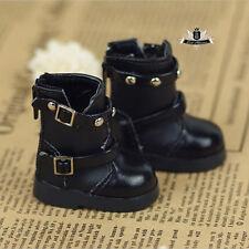 Yosd 1/6 BJD Shoes Dollfie DIM Black Boots DOD AOD Luts SOOM Dollmore MID 0312