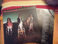 LP The Alpha Band - Spark In The Dark/ First w mini Cut Out Bob Dylan,