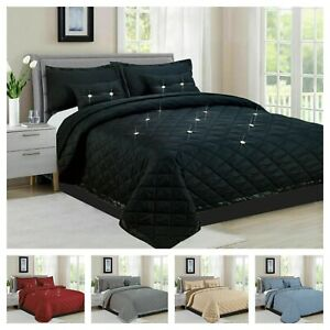 New 5-Piece Diamond Reversible Bedspread/Comforter Bed Throw Quilted Home Decor