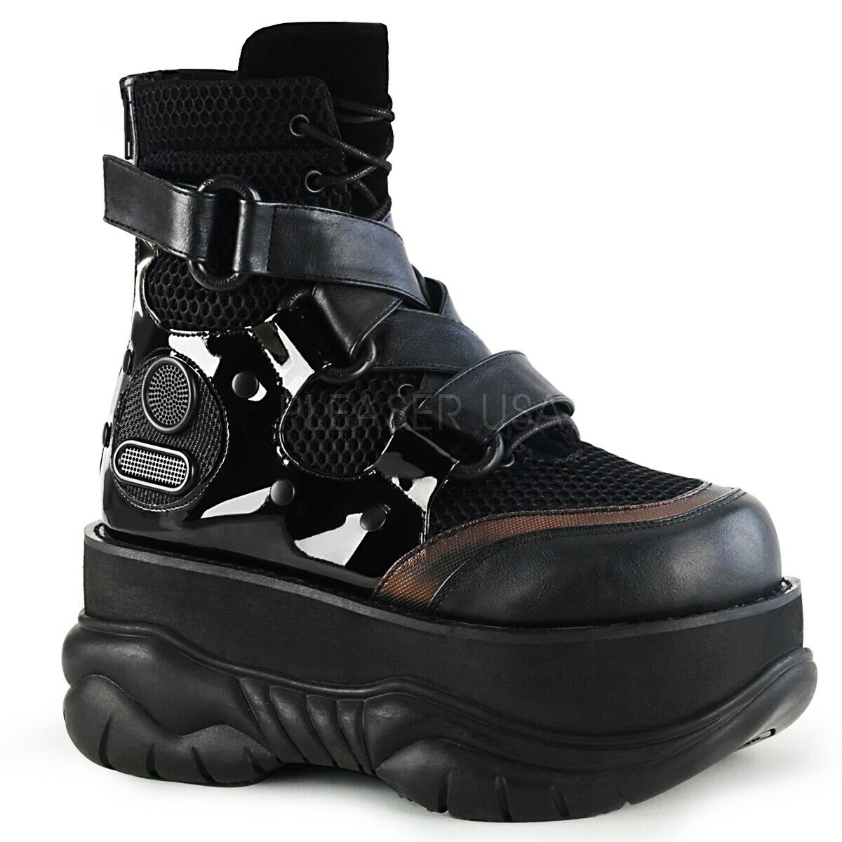 Demonia 3  Platform Black Ankle Boots shoes Gothic Cyber 5 6 7 8 9 10 11 12