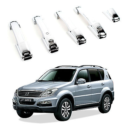 KyungDong Chrome Door Handle Catch Molding Trim Cover 01-12 Ssangyong Rexton N/_o