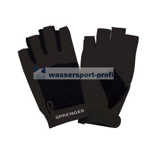 Handschuhe Sprenger Segelhandschuhe Ziegenleder schwarz o Bootsport Fingerkuppen Segeln Wassersport